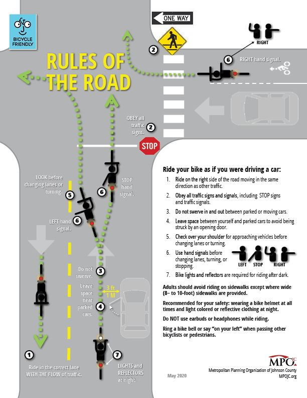 Bicycle Rules of the Road brochure from MPOJC Opens in new window
